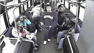 Man Gets Stabbed In The Face For No Reason On Bus (FOOTAGE)
