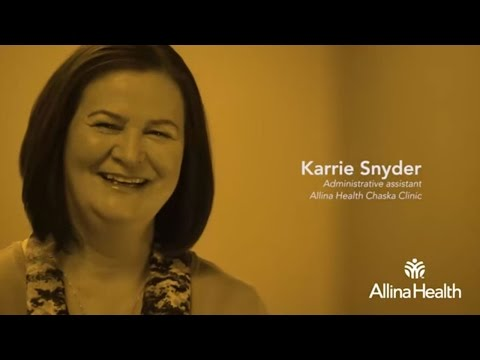 Karrie Snyder, administrative assistant, Allina Health Chaska Clinic