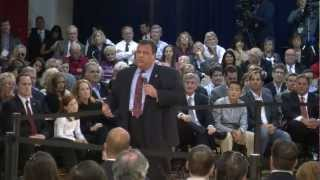 Video: NJ Gov. Christie hosts town hall in Burlington County