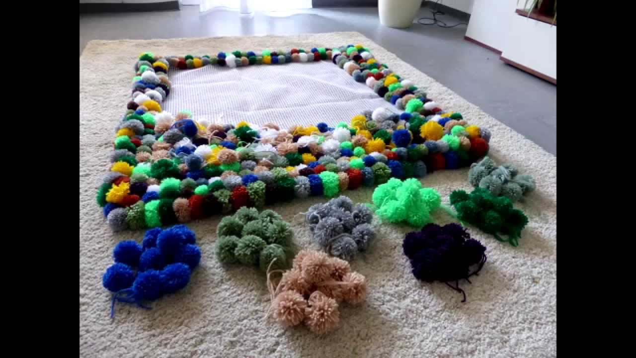 diy bobble carpet part 2 bommel teppich teil 2 pompon. Black Bedroom Furniture Sets. Home Design Ideas