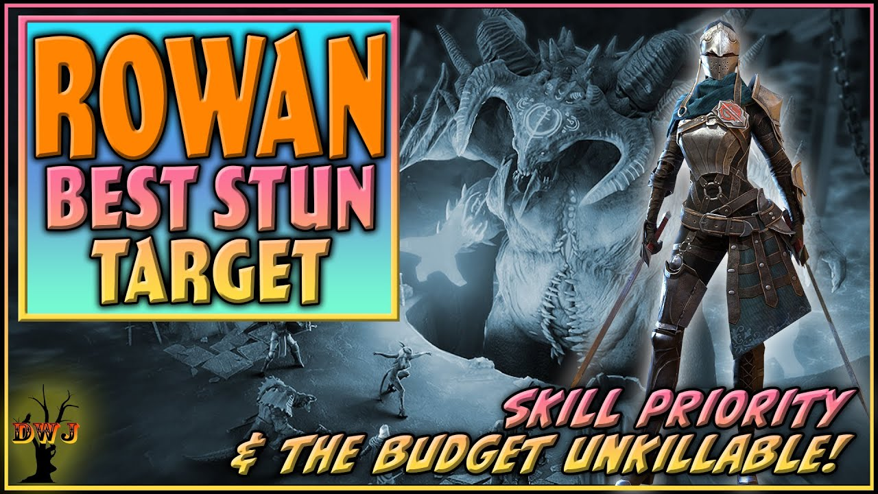 Rowan BEST Stun Target   Skill Priority & Budget Unkillable   Raid Shadow Legends
