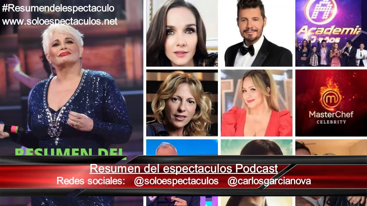 Carmen esta mejor/ Chau Bailando/ Nueva MasterChef /Natalia Oreiro / Jorge Rial y mas espectáculos