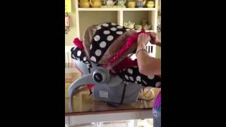 How to Remove Car Seat Canopy | www.spoiledbabybylillyrosedesigns.com