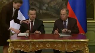 Подписание Программы сотрудничества между Правительством России и Правительством Сербии