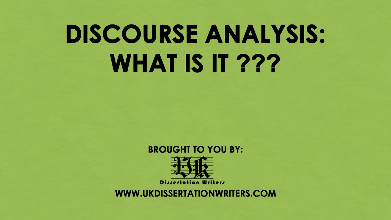 dissertations using discourse analysis