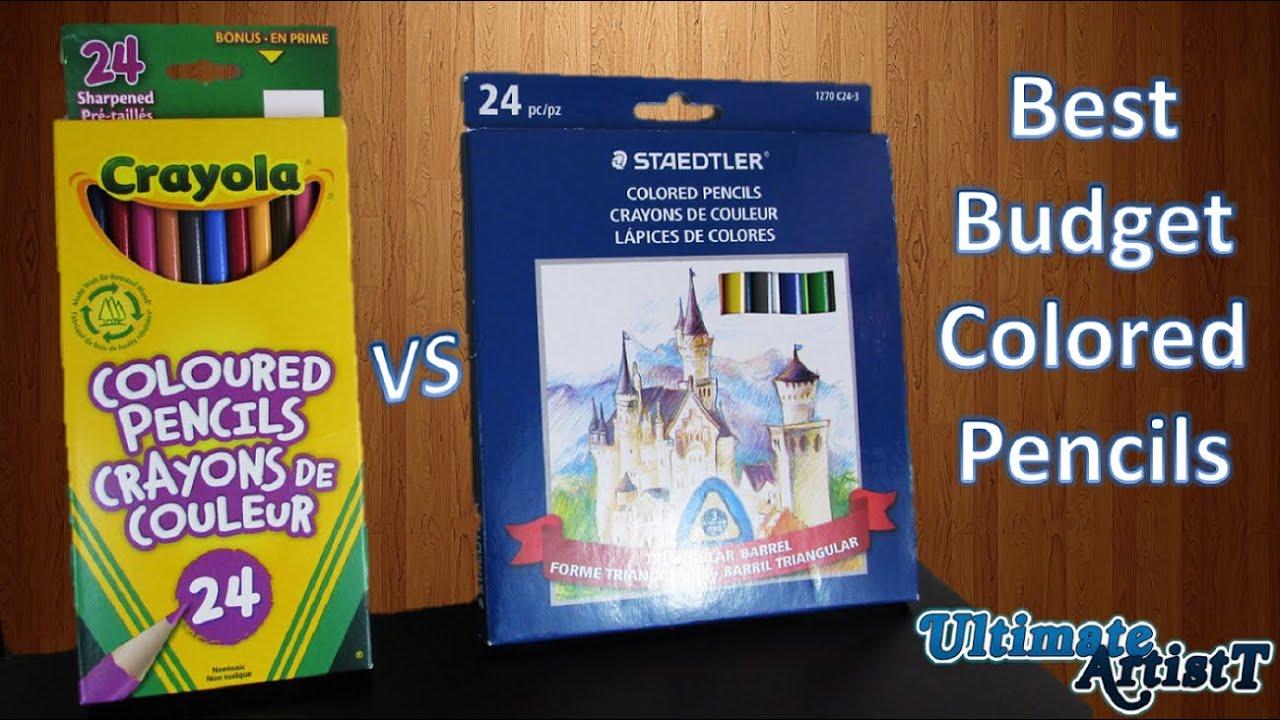 Best Budget Colored Pencils: Crayola vs Staedtler - YouTube