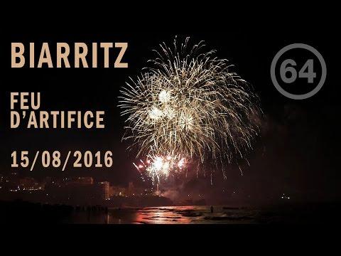 Biarritz - Feu d'artifice du 15 Août 2016 (Full HD 1080p)