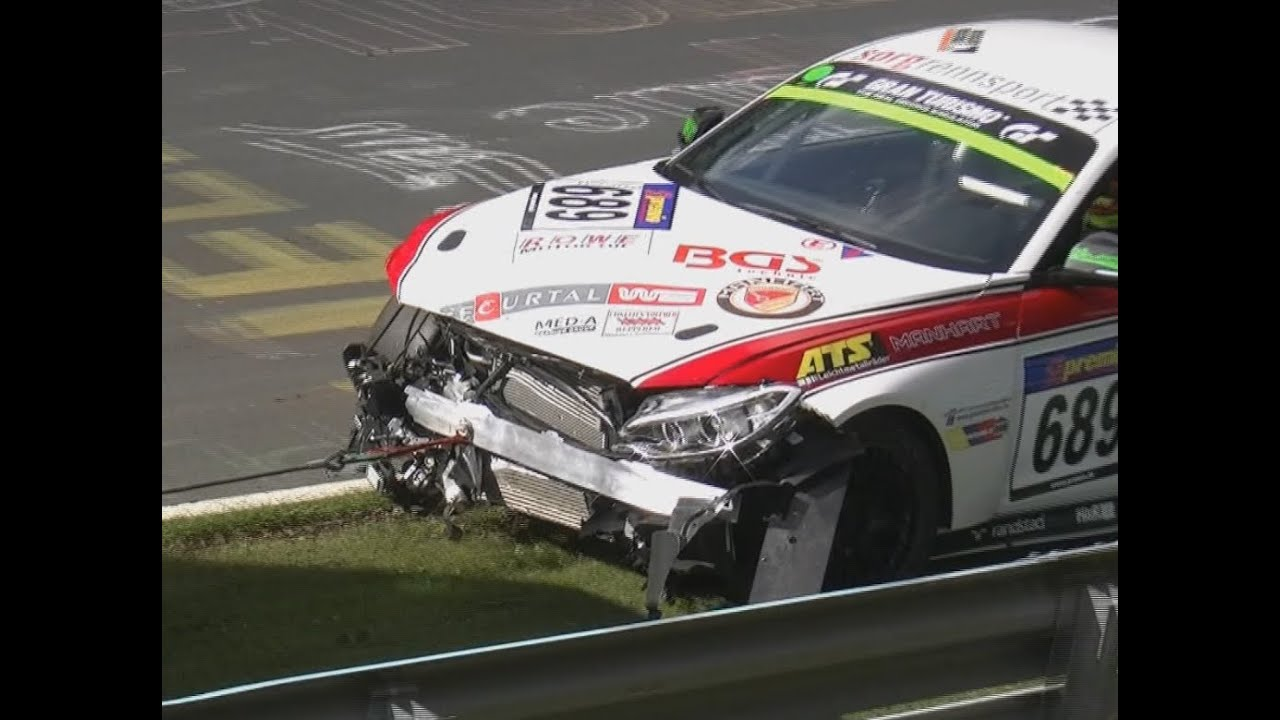 Nordschleife CRASH ACCIDENT UNFALL VLN Race BMW 235I CUP 11 10 2014 ...