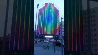 Trang trí chiếu sáng hệ thống đèn LED tòa nhà Eurowindow 3(1)