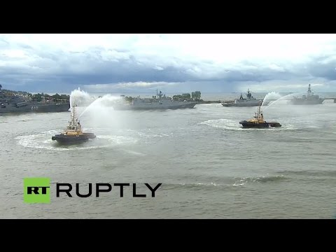 LIVE: Vladimir Putin attends Navy Day in Kaliningrad