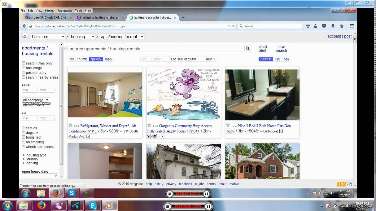 Craigslist Housing post Tutorial - YouTube