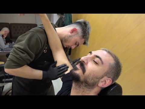 ASMR Turkish Barber Head,Face,Ear, Body And Back Massage (Barber Tunahan)