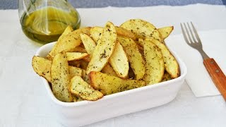 Roasted Potatoes With Herbs De Provence - Easy Oven-baked Potato Wedges Recipe