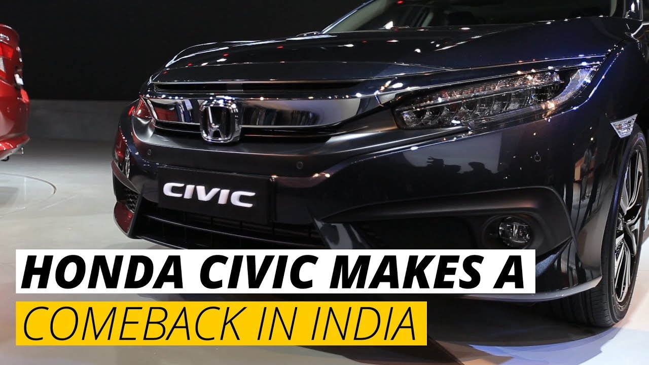 auto expo 2018 new honda civic debuts india launch confirmed youtube. Black Bedroom Furniture Sets. Home Design Ideas