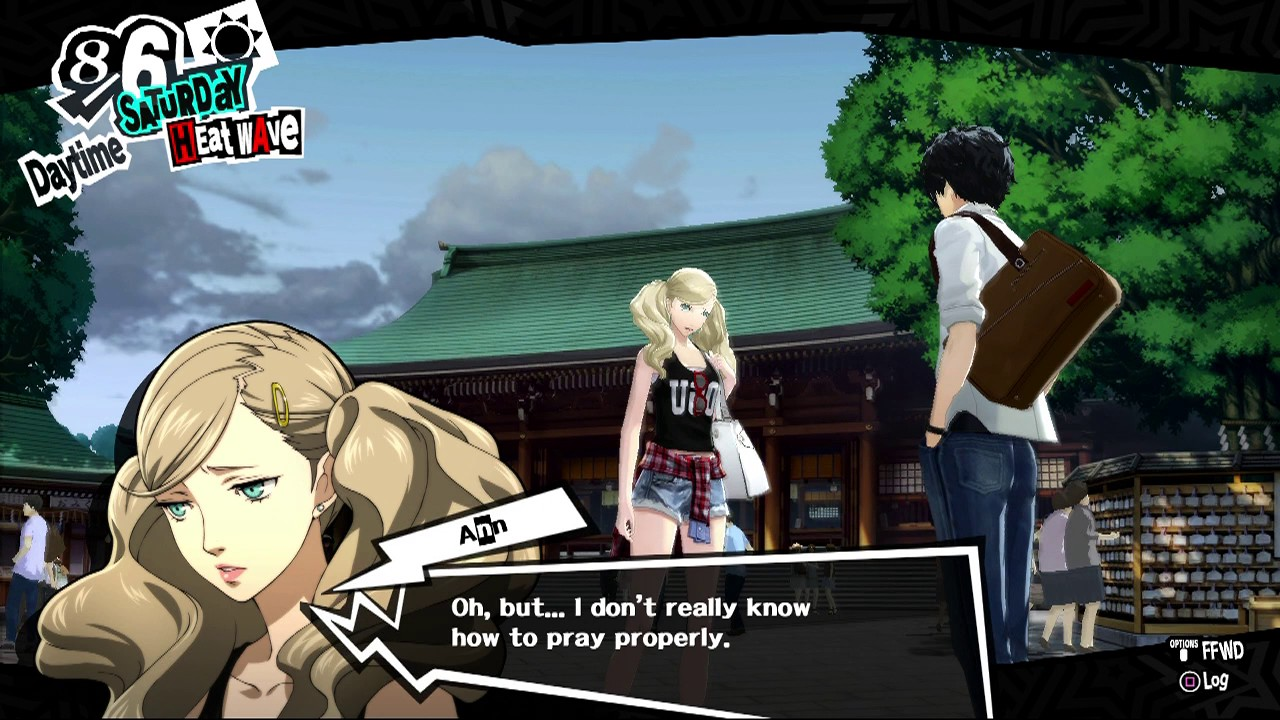 Persona 5 - Meiji Shrine with Ann Takamaki - YouTube