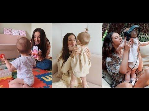 Подруга «спалила» личико – в Сети появились первые кадры дочери Нюши