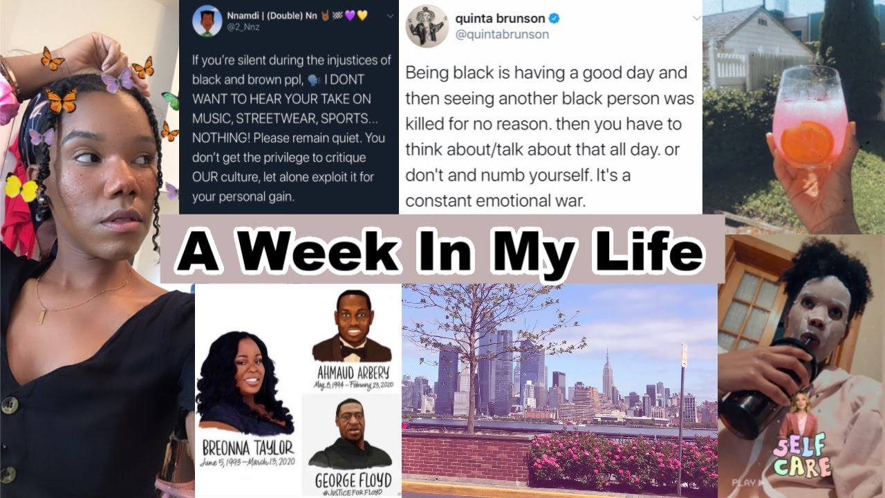 A week in my BLACK life in America | self care, detangling, coping methods and mental health