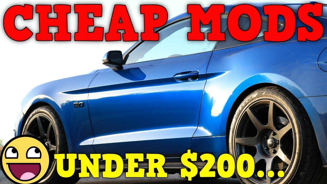 Best Mods Under 200 For The 2018 2019 Mustang Gt Youtube