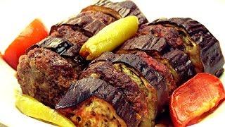 Кебаб из баклажанов рецепт - Шашлык из баклажанов(Кебаб рецепт: Для всех поклонников турецкой кухни! Смотрите это видео и учитесь готовить кебаб из баклажано..., 2015-02-10T08:37:46.000Z)