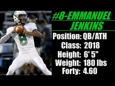 "2018- Street Light Recruiting- QB- Emmanuel Jenkins (6' 5""- 180 lbs) -Bedford High School (OH)"