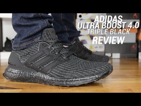 huge discount 1db53 f3a9a ADIDAS ULTRA BOOST 4.0 TRIPLE BLACK REVIEW - YouTube