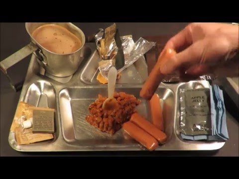 1982 Vintage MRE Review Frankfurters Oldest Hotdog Meal Ready to Eat Taste Testing