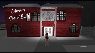 ROBLOX | Welcome to Bloxburg: Library SpeedBuild - DaPandaGirl