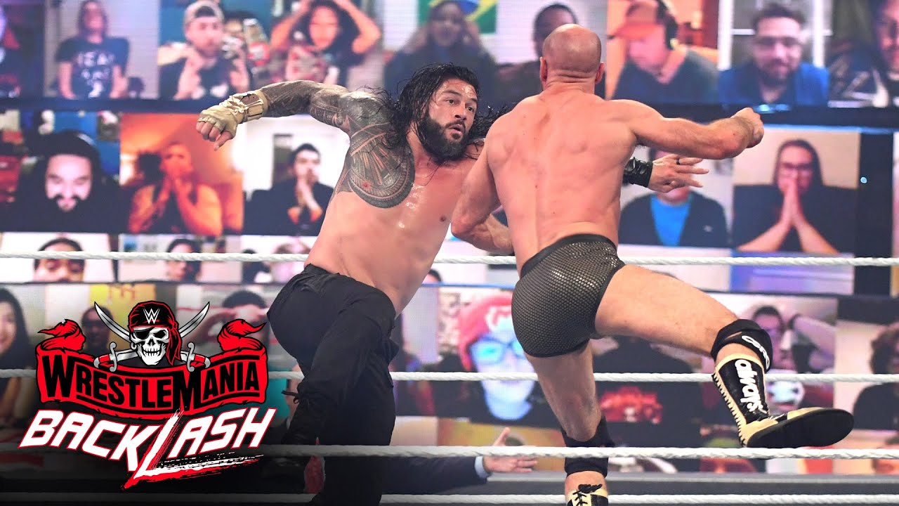 Download Roman Reigns levels Cesaro with a Superman Punch: WrestleMania Backlash 2021 (WWE Network Exclusive)