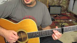 Mumford and Sons - Little Lion Man - How to Play on Acoustic Guitar - Lesson Tutorial - Stafaband