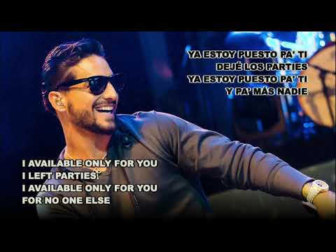 Puesto pa ti - Maluma ft Farina (Español Letra - English Lyrics)