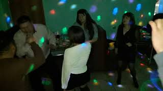 Новогодний корпоратив сотрудники такси Паллас 29.12.18г кафе Три мушкутера г.Палласовка
