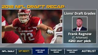 Detroit Lions 2018 NFL Draft Grades And Analysis