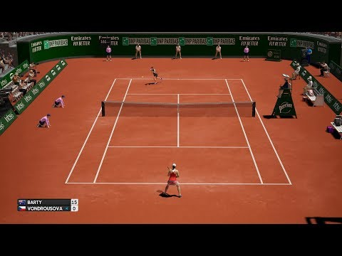 AO International Tennis - Ashleigh Barty vs Markéta Vondroušová - PS4 Gameplay