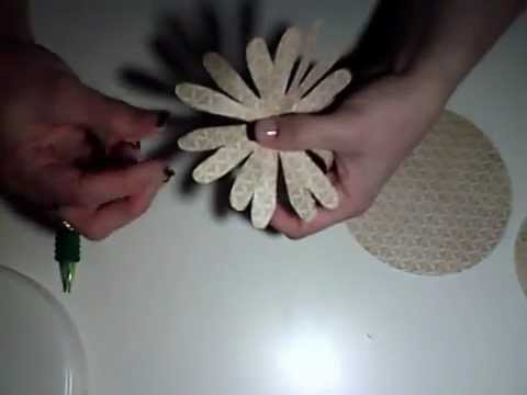 How to Make a Paper Chrysanthemum