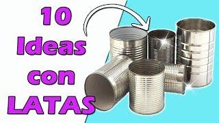 DIY 10 Ideas para Reciclar Latas || Manualidades Recicladas || Ecobrisa