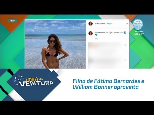 Filha de Fátima Bernardes e William Bonner aproveita carnaval em Alagoas