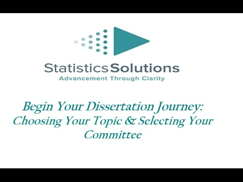 Choosing your dissertation committee