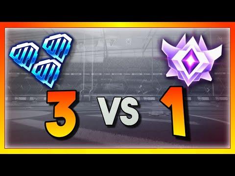 3 Diamond Players vs 1 Grand Champion (Rocket League Showmatch)