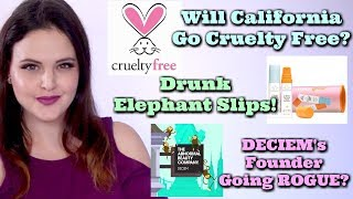 What's Up in Makeup NEWS! California May Go CF, Drunk Elephant Makes a Boo Boo, DECIM's Founder
