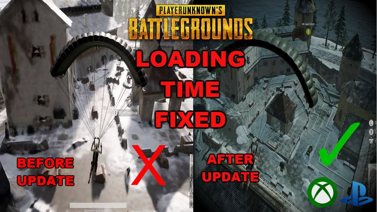Loading Time Fixed Old Update Vs New Update Pubg Xboxps4 Newest Update