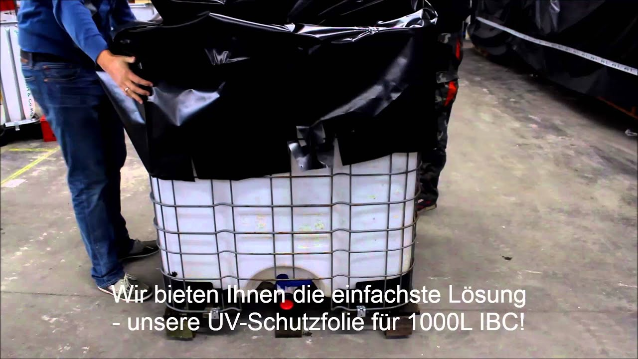 ibc uv schutzfolie algenschutz ibc schutz youtube. Black Bedroom Furniture Sets. Home Design Ideas