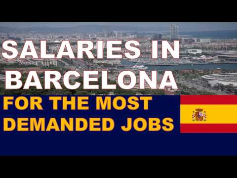 Salaries (Wages) in Barcelona for the most demanded jobs