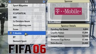 FIFA 06 MANAGER MODE IS BETTER THAN FIFA 19 CAREER MODE | Staff Upgrades, Sponsors + MORE!