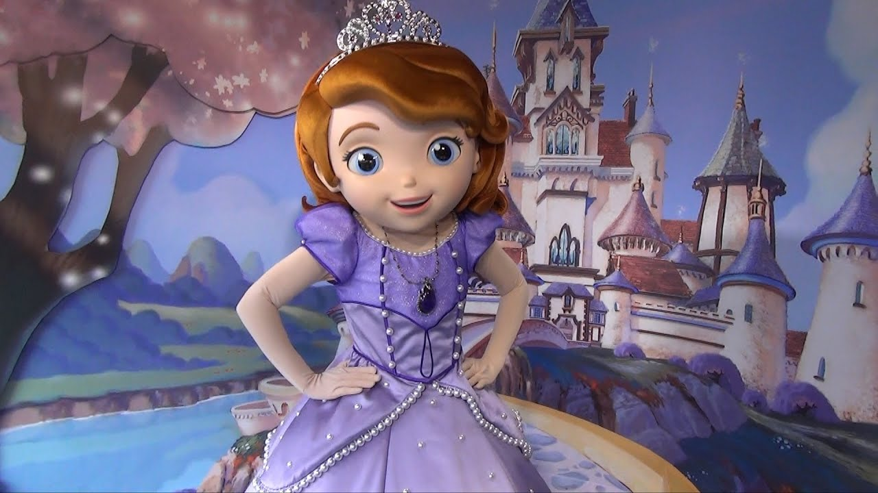 Disney Princess Wall Mural Meeting Sofia The First At Disney S Hollywood Studios W