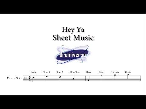 Hey Ya by Outkast - Drum Score (Request #17)