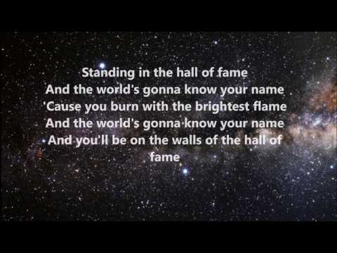The Script - Hall of Fame ft. Will.I.am (Lyrics)