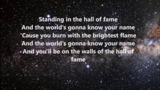 Cover images The Script - Hall of Fame ft. Will.I.am (Lyrics)