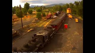 7/11/2018 Eight car train 215 arrives into Chama, NM