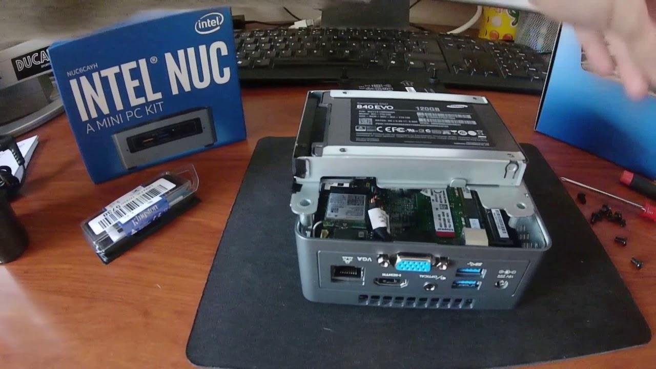 Kit para Intel® NUC NUC6CAYH Parte 02 - Instalación de RAM y Disco SSD