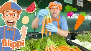 Blippi Visits Tanaka Farm! | Learn About Healthy Eating For Kids | Educational Video for Toddlers